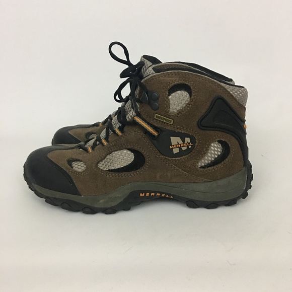884f9bfb Boys Merrell Chameleon Mid Hiking Boots Size 3.5